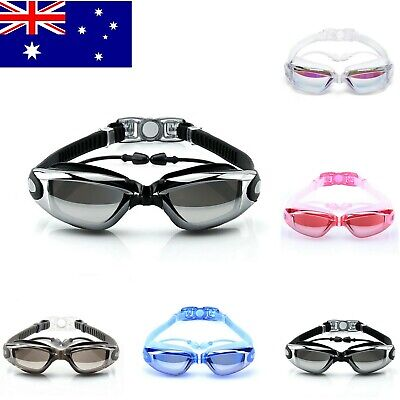Swimming Goggles Swim Googles attached Earplugs Anti Fog UV Protection kids men