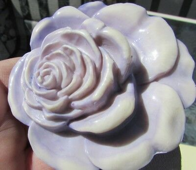 Art Deco Belt Buckle Lilac Victorian Rose Cabbage Stretch Belt 1930s Gorgeous