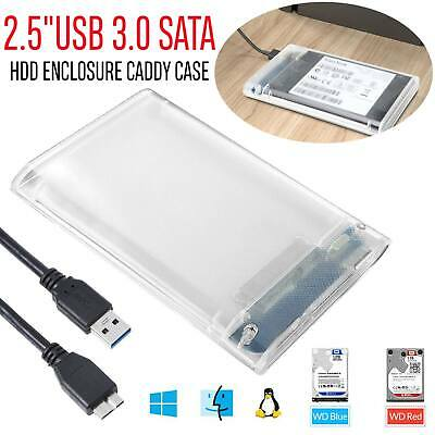 2.5inch USB 3.0 SATA3 5gbps Hard Drive Enclosure Caddy Case For External HDD SSD
