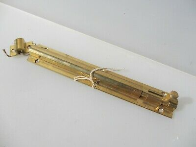 "Brass Door Lock Bolt Bathroom Lock WC Toilet Old Keep Retro - Modern   8.5""L"