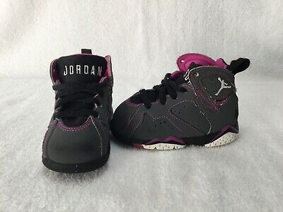 brand new 5cf9f 7dc39 NIKE AIR JORDAN 7 Retro Valentines Toddler Girls Grey/pink Shoes~size 5 C
