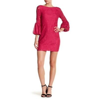 e497d8d18a54f NWT $265 - Laundry by Shelli Segal - Lace Overlay Shift Dress - Pink ...