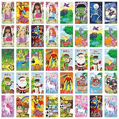 1/12/24/36 Kids Mini Notebooks Notepads Party Bag Filler - Pick 10 Mixed Designs