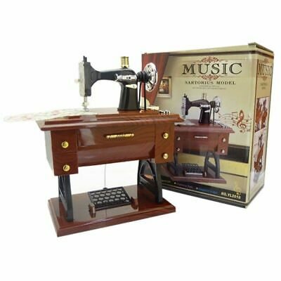 Music Box Sewing Machine Decor Vintage Featherweight Singer Case Accessories HQ