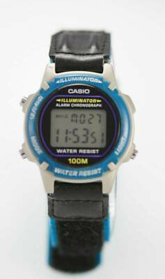 Casio Illuminator Digital Face Easy Read 100m WR Casual Sport 3/4 Size Watch