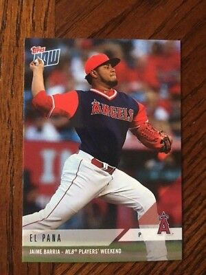 6a46458c7 2018 Topps Now Players Weekend Card #pw-03 Angels Jaime Barria