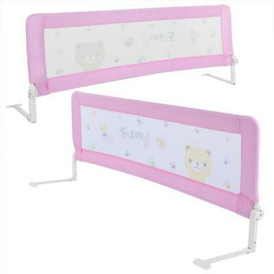 180CM Safety Child Toddler Bed Rail Baby Bedrail Fold Cot Guard Protection Pink