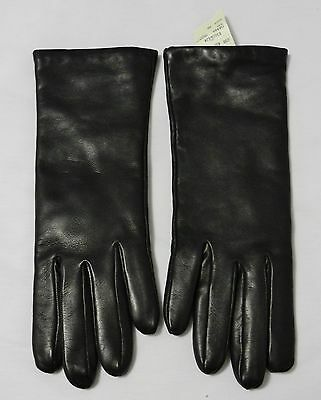 Bergdorf Goodman Portolano Nappa Brown Leather/Cashmere Lined Ladies Gloves Sz 7