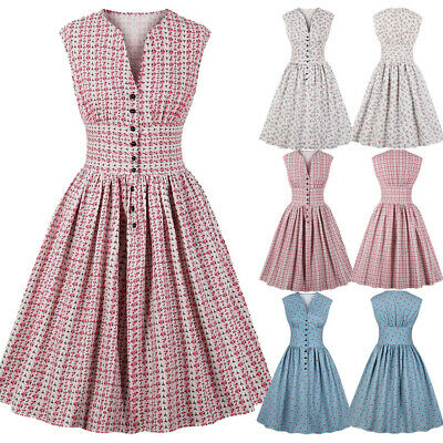 31df0866d Womens 1940s 50s Rockabilly Vintage Style Retro Womens Party Swing Audrey  Dress