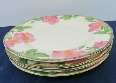 FRANCISCAN CHINA DESERT ROSE (USA) TV  Backstamp 4 LOT DINNER PLATES 10 1/2 ""