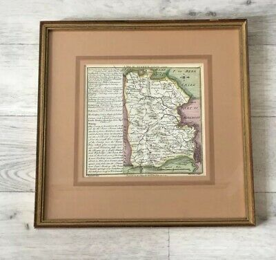 Antique Framed Map Of Surrey 1742 By W H Toms