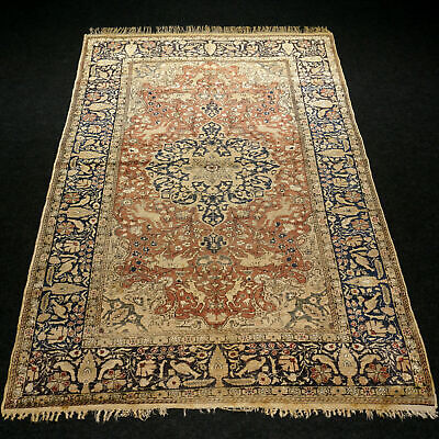 Antiker Orient Teppich 175 x 124 cm Türkischer Hereke Alt Old Turkish Carpet Rug