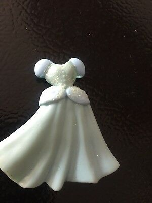 Disney Princess Cinderella Polly Pocket doll Blue dress vintage EUC long ball