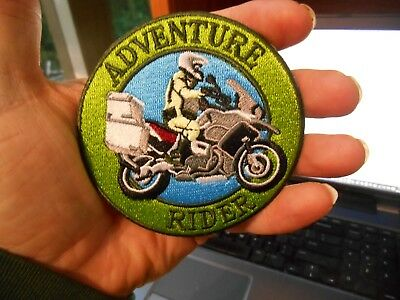ADVENTURE RIDER Motorcycle Iron on Patch