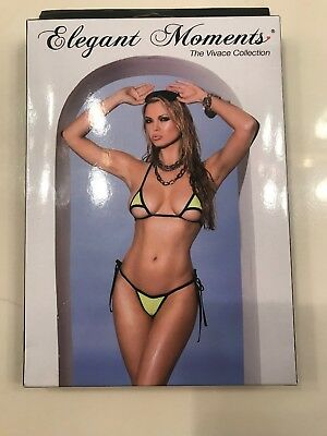 a5841a43d10 Chartreuse Tie-Side Bikini Triangle Micro Sexy Thong G-string Mini Swimsuit  Set