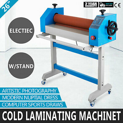 Cold Laminating Machine 650mm 0-4m/Min Large With Foot Pedal 50℃ Heating