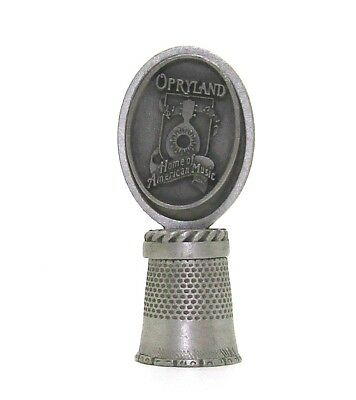 Opryland Home Of American Music Pewter Thimble Topper In Hi-Relief By Fort