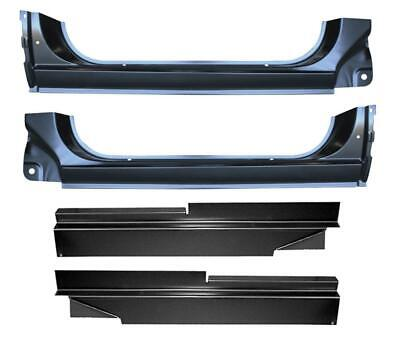 73-91 chevy gmc pickup truck inner & outer rocker panels rust repair pair  kit