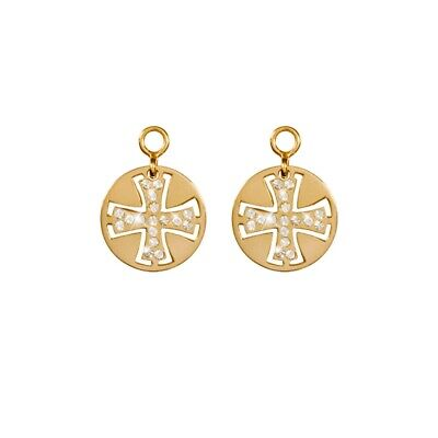 Nikki Lissoni Celtic Cross 14mm Gold Plated Earring Coins EAC2049G