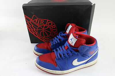 best service 7f67a be7ba Nike 554724-407 Air Jordan 1 Retro Mid Detroit Pistons Game Royal Blue Size  13