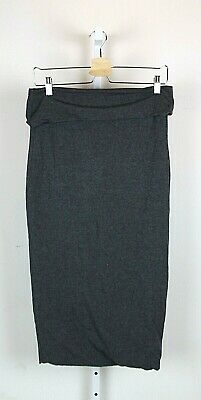 79fb0d9509 Mint Velvet HYGGE Gray Stretch Knit Midi Skirt Below Knee Cotton Modal  Womens 12