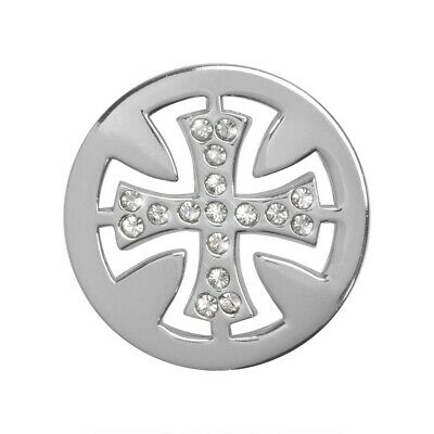 Nikki Lissoni Celtic Cross Small Silver Coin C1284SS