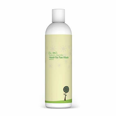 SHEA MOOTI ORGANIC BABYS GENTLE HEAD TO TOE WASH SCENT FREE 250ml UK LONDON