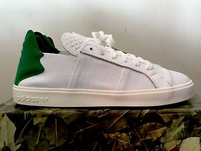 ce61a52742056 PHARRELL WILLIAMS Adidas Elastic Lace Up AQ4917 WHITE GREEN 8.5 M DEADSTOCK