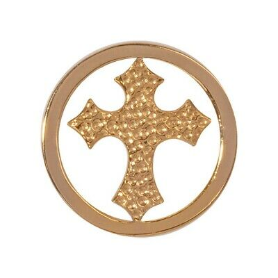 Nikki Lissoni Gold Cross Small Gold Plated Coin C1185GS