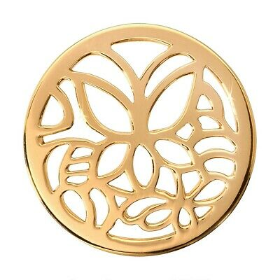 Nikki Lissoni Butterfly Medium Gold Plated Coin C1132GM