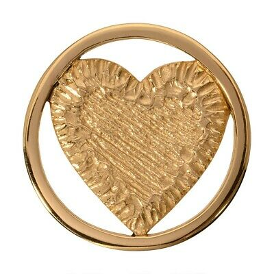 Nikki Lissoni Carved Heart Medium Gold Plated Coin C1115GM