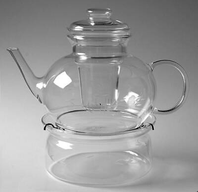 Princess House HERITAGE Tea Pot With Infuser & Warmer 6279231
