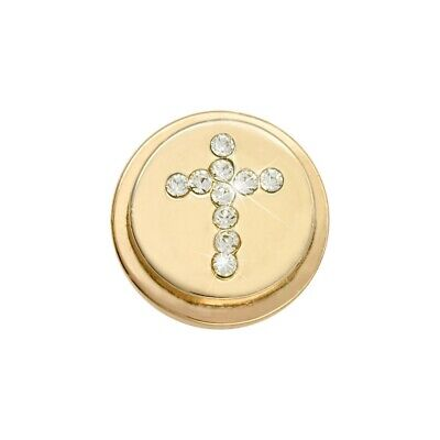 Nikki Lissoni Sparkling Cross Gold Plated Ring Coin RC2014G