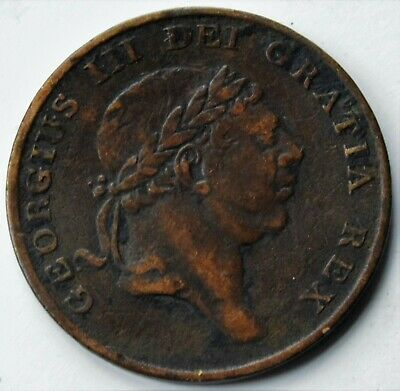 1814 Bank Token Eighteenpence 1/6d  George III Contemporary Copper Forgery