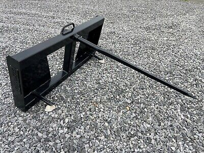 Quick Tach Tractor Loader Skid Steer Hay Bale Spear Fork Attachment - Ship $179