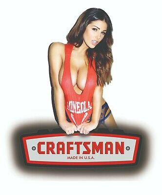 Craftsman Tool Sticker Decal College Girl Sexy Mechanic Toolbox Sign Chest Usa
