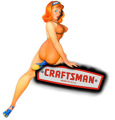 Craftsman Tool Sticker Peekaboo Girl Sexy Decal Mechanic Toolbox Sign Chest Usa