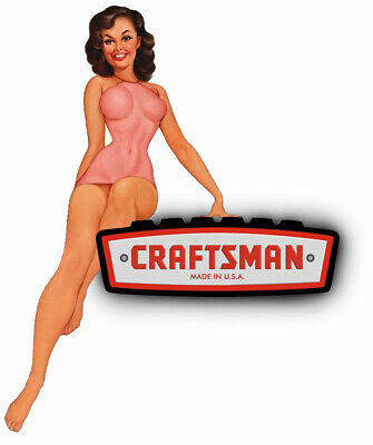 Craftsman Tool Sticker Apple Girl Sexy Decal Mechanic Toolbox Sign Chest Usa