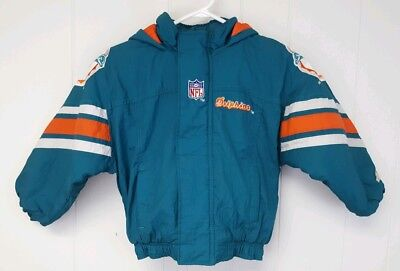 c5f81c71 NFL PRO LINE Vintage Youth Starter Jacket Small Miami Dolphins Football  Hooded