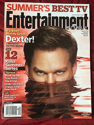 Michael C. Hall Signed Entertainment Weekly Authentic In Person Autograph Dexter