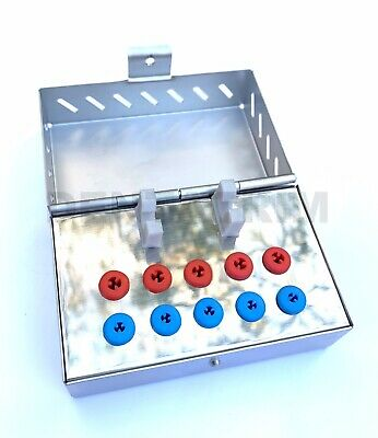 Dental Surgical Instruments Empty Sterilization Box for Implant Tools Bur Holder