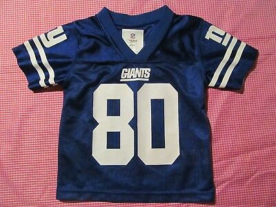 03afd7fc11b New York NY Giants CRUZ 80 blue jersey Toddler 2T NFL Team Apparel
