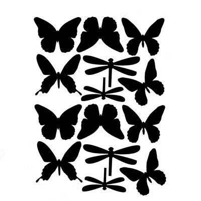 Creative Dragonfly Butterfly Wall Sticker Decal Removable Room Wall Decoration D