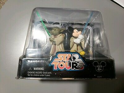 Disney Parks Star Wars Star Tours Yoda and Jedi Mickey Action Figures New in Box
