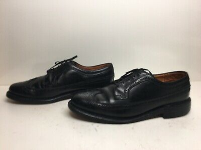 3479a87d4d5cf Vtg Mens Shoe Classics Jcpenney Wing Tip Casual Leather Black Shoes Size 11  E