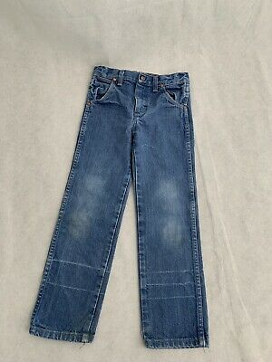 WRANGLER Size 7 Boys Girls Unisex Country Denim Cowboy Jeans