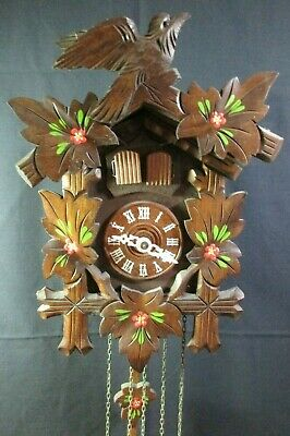 Vintage Black Forest CUCKOO CLOCK  MADE IN GERMANY WITH SWISS REUGE Music Box