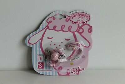 New Zapf Creations Baby Annabell Dummy With Clip 116715 (Pink & White)