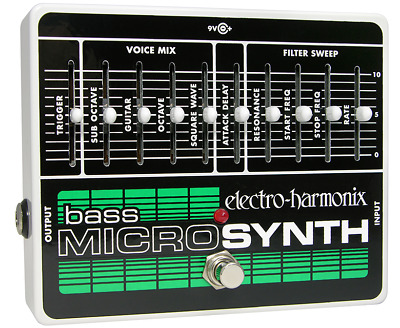 EHX Electro-Harmonix Bass Microsynth Micro Synth Analog Guitar Effects Pedal