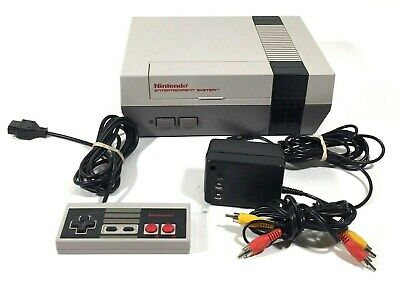 NES Nintendo Console Model NES-001 With 1 Controller Power Cord and RCA Cable